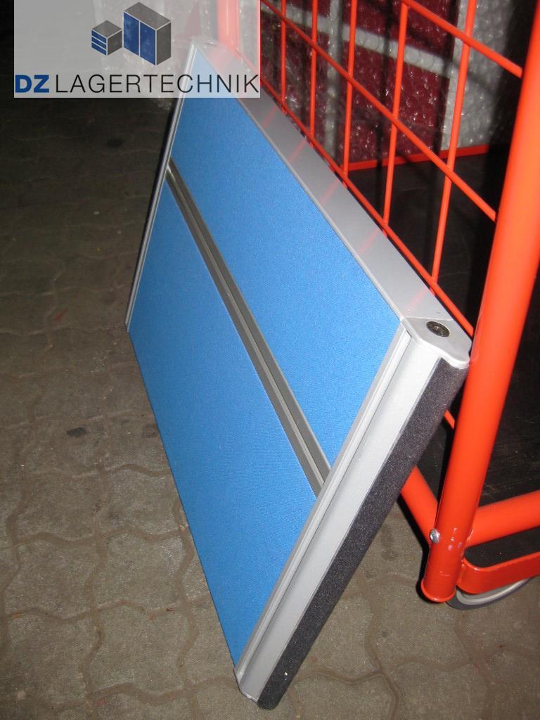 tischtrennwand blau stellwand paravent sichtschutz l rmschutz raumteiler 750x500 ebay. Black Bedroom Furniture Sets. Home Design Ideas