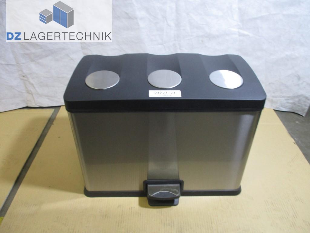 abfalltrennsystem sammler 3 fach m llsortierer abfallsystem treteimer m lltonne. Black Bedroom Furniture Sets. Home Design Ideas