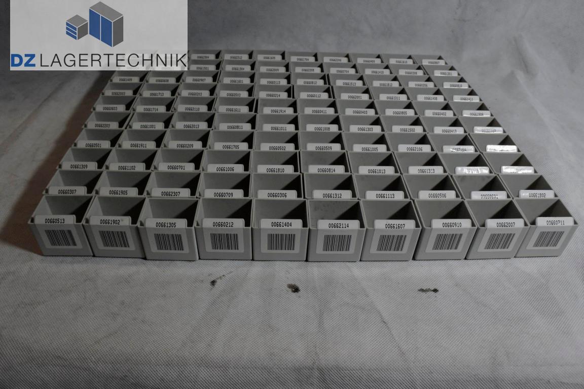 50x Einsatzkiste Lagerkasten grau Kunststoff Lagerkiste Einsatzbox ...